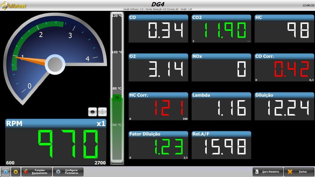 Analisador De Gases DG4 1